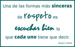 escuchar respeto