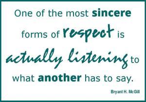 respect listening